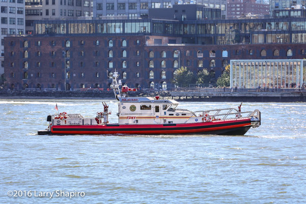 FDNY Fire Boat Marine 6 'The Bravest' on the East River